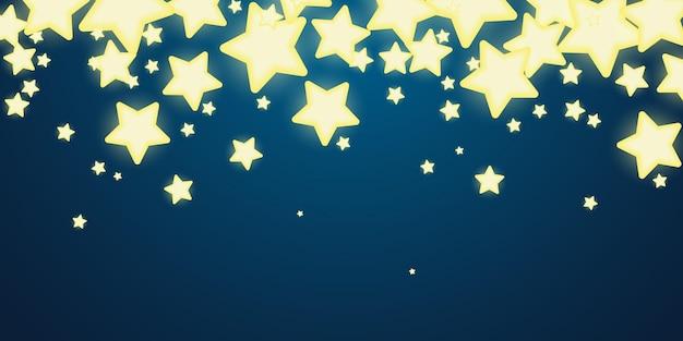 Stelle luminose incandescente banner di design a luce dolce