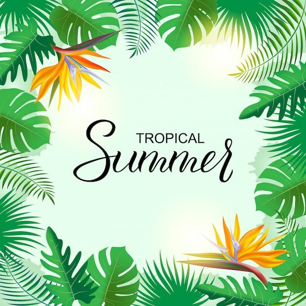 Luminoso sfondo tropicale