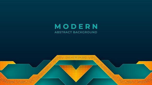 Progettazione moderna del fondo di colori luminosi del turchese e dell'arancio