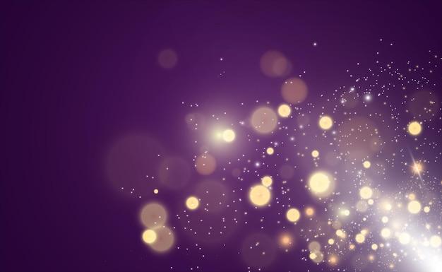 Brillante vettore di polvere d'oro brillare ornamenti luccicanti scintillanti per lo sfondo illustrazione vettoriale