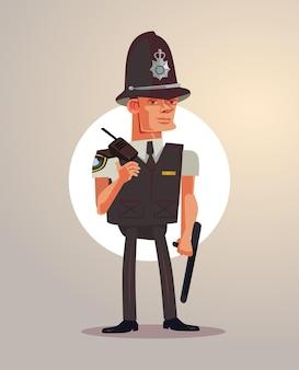 Carattere del poliziotto di londra britannica.