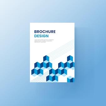 Modello di brochure e copertina del libro