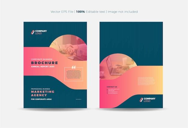 Design della copertina dell'opuscolo o copertina del rapporto annuale e del profilo aziendale o copertina del libretto e del catalogo