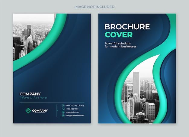 Brochure copertina design modello anteriore e posteriore