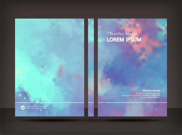 Modello di progettazione brochure progettazione di volantini o copertine