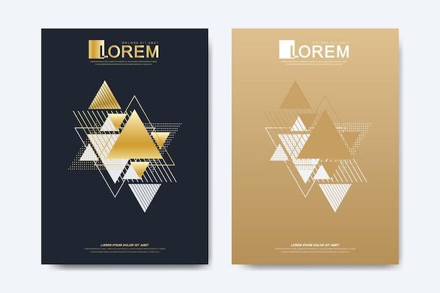 Copertina brochure flyer o relazione annuale in formato a4