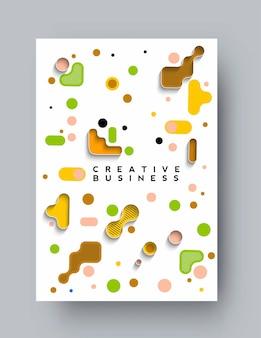 Brochure, flyer, modello di poster della pagina di copertina di una rivista, illustrazione.