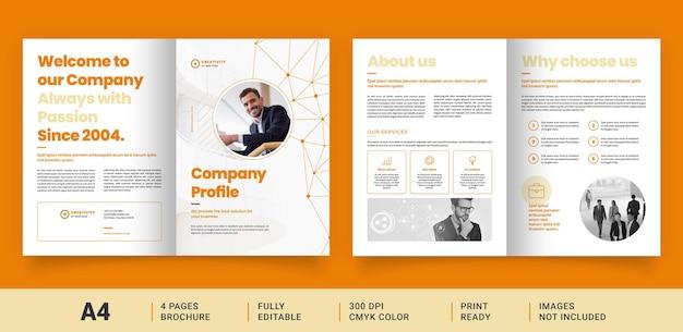 Layout brochure con collegamenti astratti