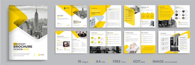Brochure modello layout design, moderno design brochure
