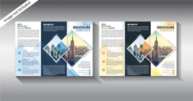 Modello a tre ante brochure per attività di promozione