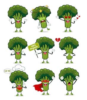 Fumetto della mascotte dei broccoli