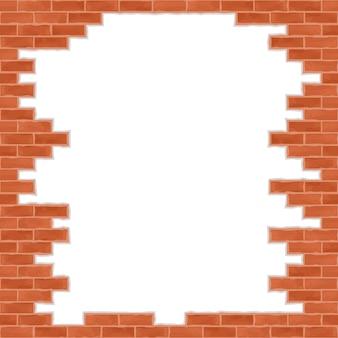 Muro di mattoni rotti, illustrazione