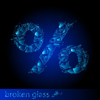 Percentuale di vetri rotti