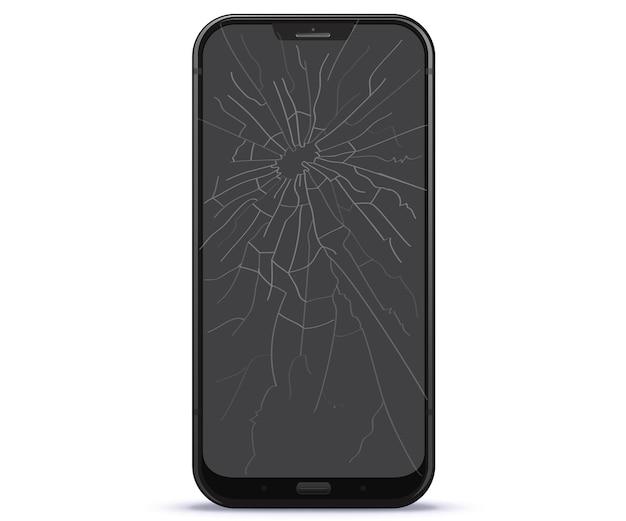 Illustrazione di schermo del telefono cellulare rotto