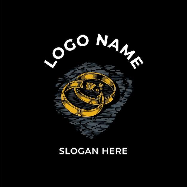 Design del logo dell'anello rotto