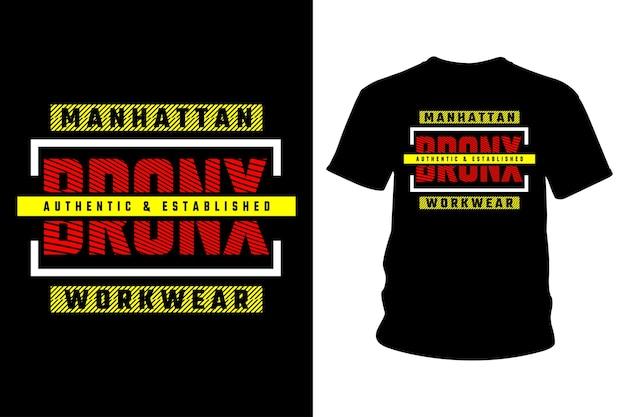 Bronx abstract t shirt design tipografia
