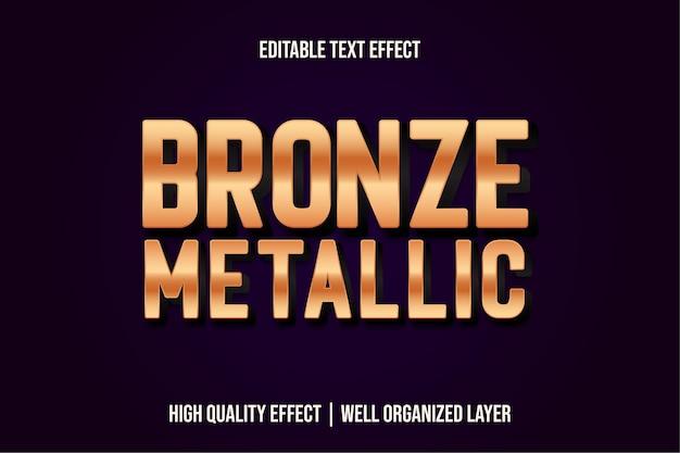 Stile effetto testo modificabile bronzo