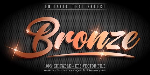 Testo in bronzo, effetto di testo modificabile in stile bronzo