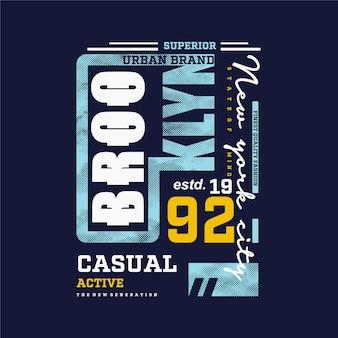Brooklyn new york city abstract graphic t shirt design tipografia illustrazione