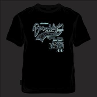 Brooklyn new york city t-shirt grafica design tipografia stile casual