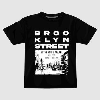 Design della maglietta di brooklyn street