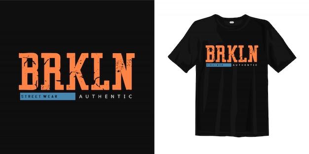 Brooklyn street indossa una maglietta autentica