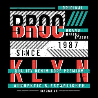 Design tipografico della maglietta di brooklyn