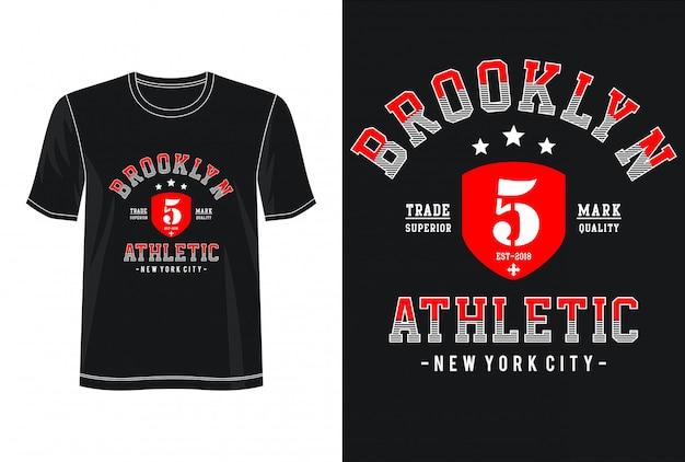 Tipografia brooklyn per t-shirt stampata