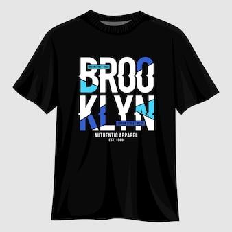 Design della maglietta tipografia di brooklyn
