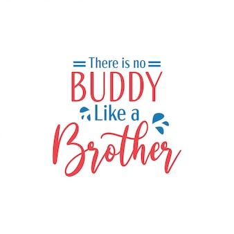 Tipografia lettering citazione fratello