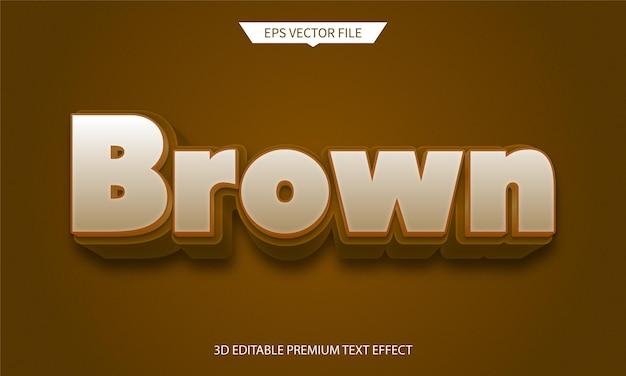 Effetto stile di testo modificabile 3d marrone