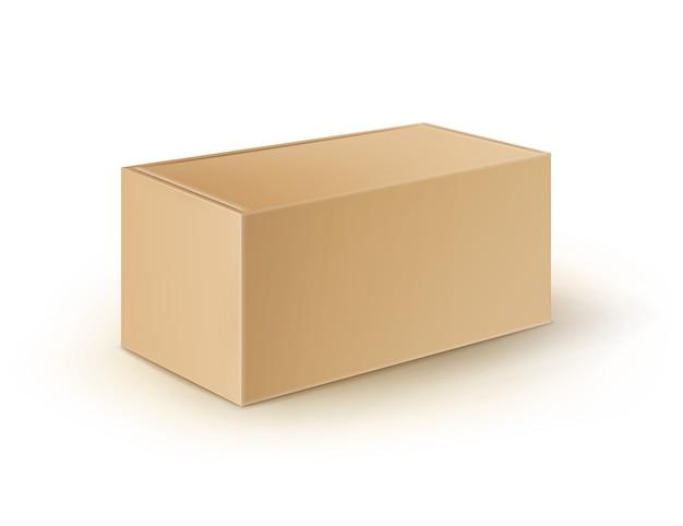 Imballaggio scatola di cartone vuota marrone