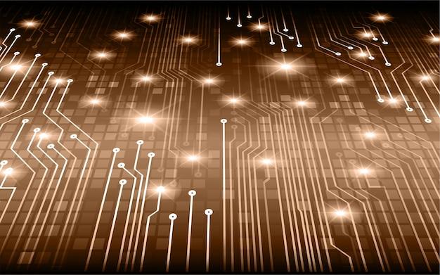Fondo futuro di concetto di tecnologia del circuito cyber di brown