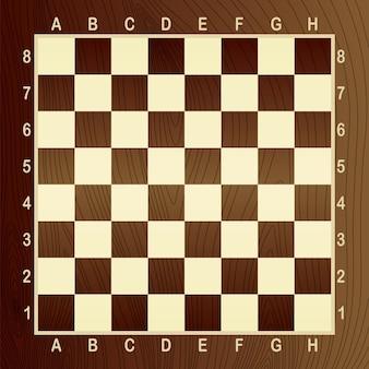 Scacchiera vuota marrone. concetto di illustrazione grafica vettoriale. art design a scacchi, scacchiera o scacchiera