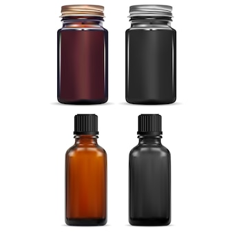 Fiala di olio essenziale marrone