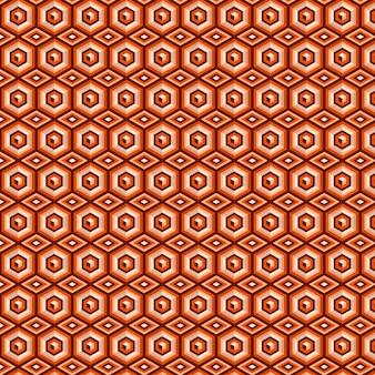 Modello senza cuciture groovy geometrico marrone