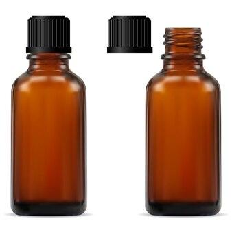 Bottiglia per farmacia in vetro marrone
