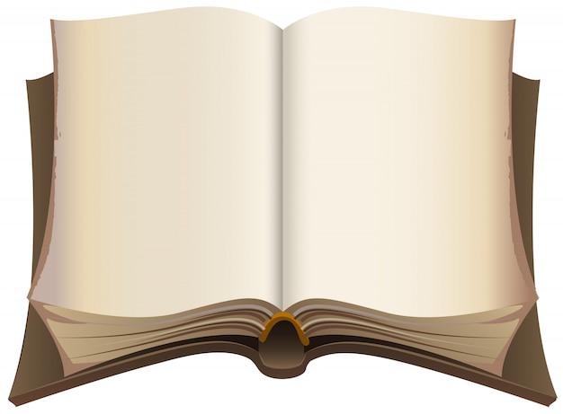 Vecchio libro aperto marrone