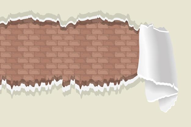 Muro marrone con vernice deteriorata