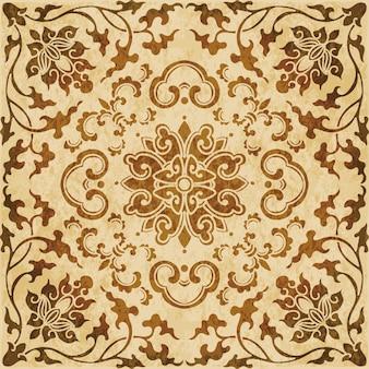 Struttura dell'acquerello marrone, modello senza soluzione di continuità, fiore botanico croce di vite