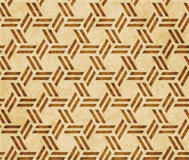 Struttura dell'acquerello marrone, modello senza cuciture, spirale trasversale del poligono di geometria