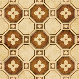 Struttura dell'acquerello marrone, modello senza soluzione di continuità, cornice fiore croce poligono
