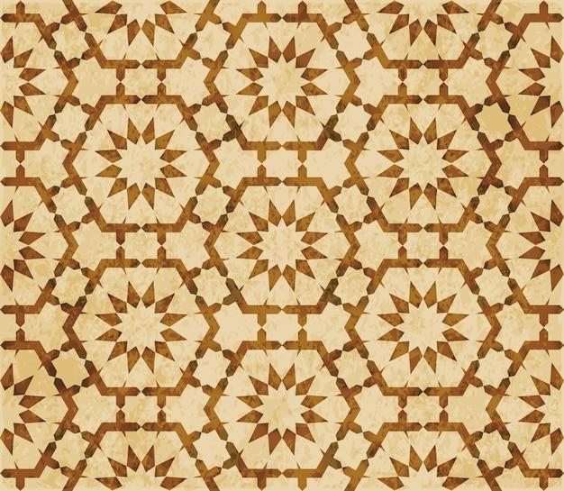 Struttura dell'acquerello marrone, modello senza soluzione di continuità, pizzo fiore di geometria poligonale