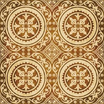 Struttura dell'acquerello marrone, modello senza cuciture, pianta di vite fiore a spirale rotonda