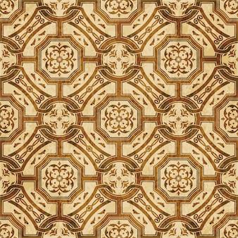 Struttura dell'acquerello marrone, modello senza soluzione di continuità, fiore rotondo catena croce quadrata