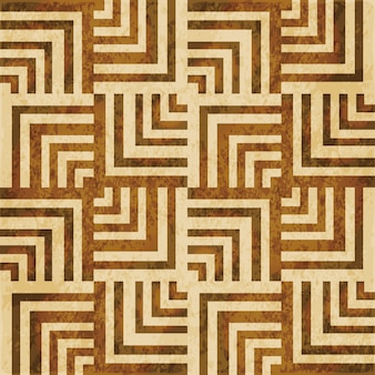 Struttura dell'acquerello marrone, modello senza cuciture, linea quadrata di geometria a spirale