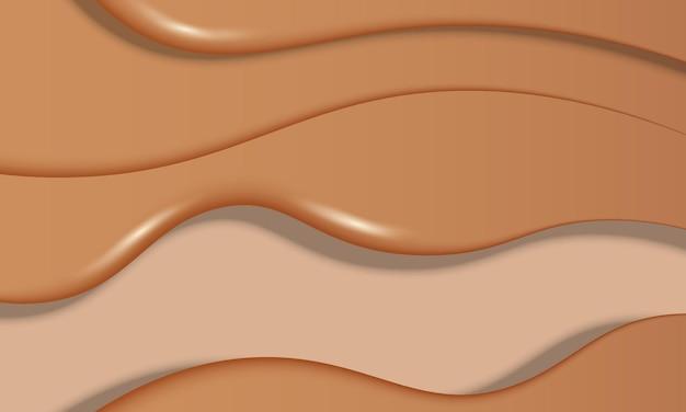 Sfondo onda marrone. illustrazione vettoriale. design per poster, banner di siti web.