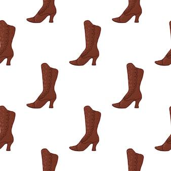 Modello isolato senza cuciture degli stivali delle donne di brown.