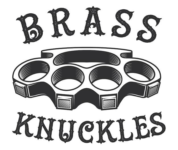 Bruss knuckles illustrazione su sfondo bianco. il testo è sul livello separato.