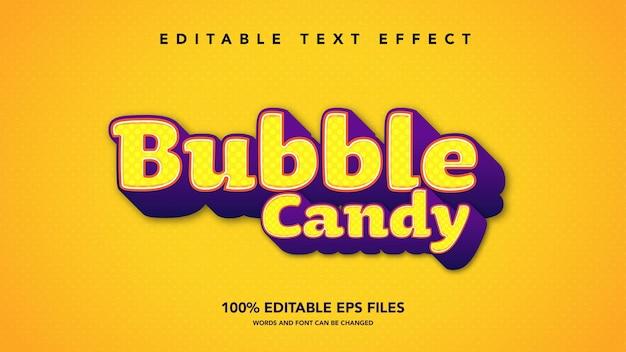 Bubble candy 3d modello di effetto di testo